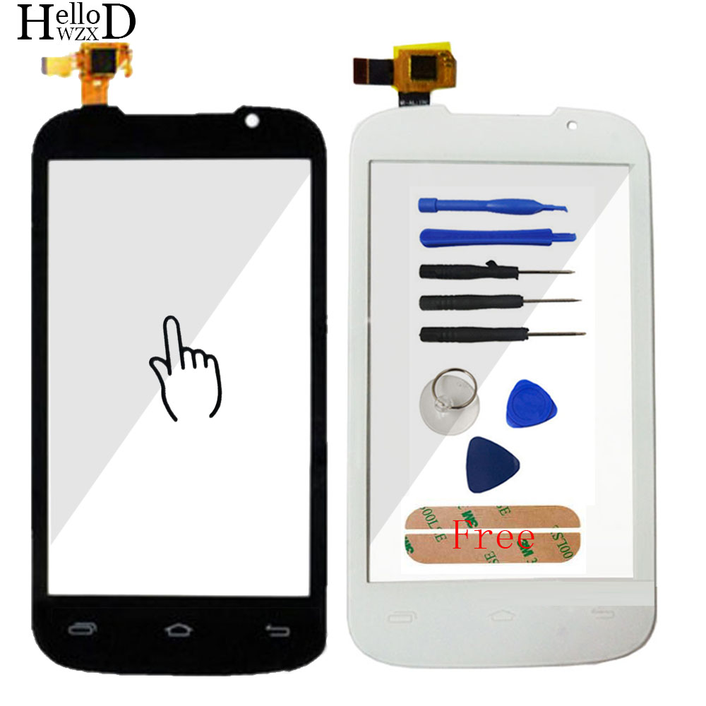 For Prestigio MultiPhone PAP 3400 Duo PAP3400 Smartphone Front Touch Glass Screen Digitizer Panel Lens Sensor Tool Adhesive Gift