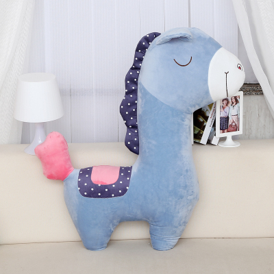 stuffed animal 100cm plush sky blue horse toy horse doll throw pillow gift w1276