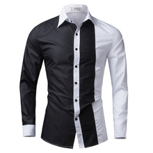 Мужская рубашка 2017 Slim Fit Camisas