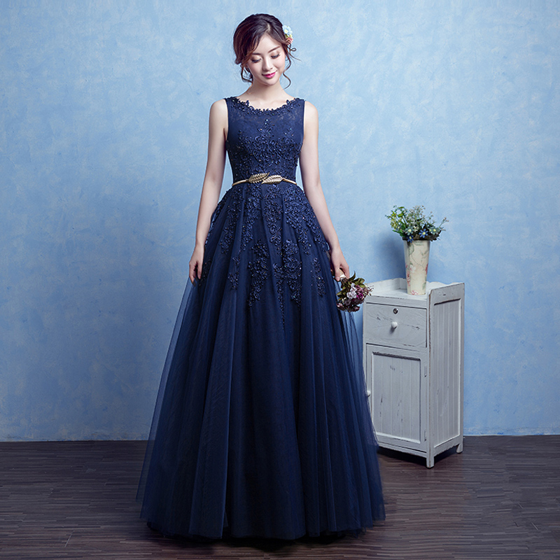 Popular Navy Prom Dress-Buy Cheap Navy Prom Dress lots from China ...