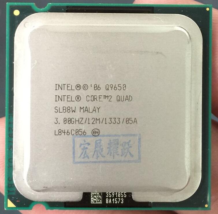 Intel Processador Quad Q9650 Core2 (12 3M Cache, 3.00 GHz, 1333 MHz FSB) ÓXIDO de ETILENO SLB8V LGA775 CPU de Desktop