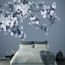 Customized large wallpaper Begonia new Chinese style background mural waterproof material