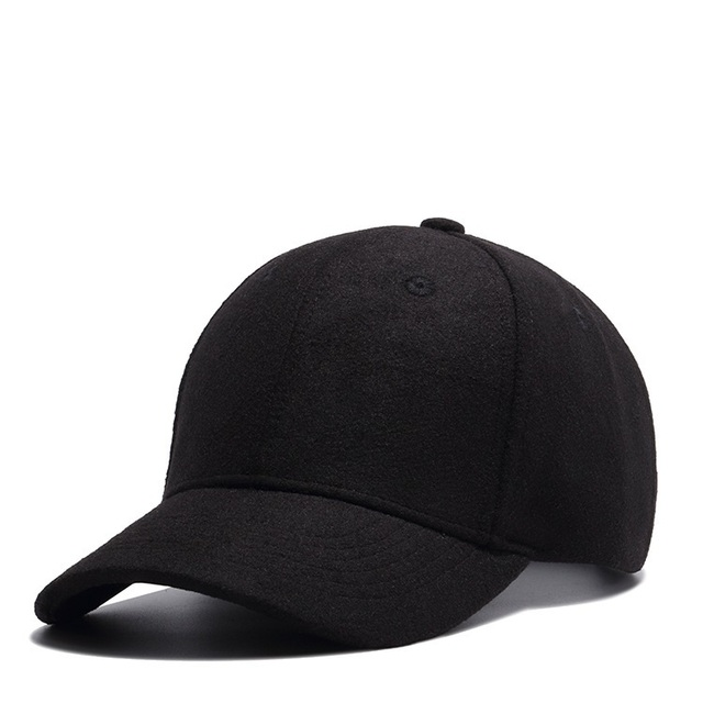 c9aaf0a4120 Father Autumn And Winter Keep Warm Wool Felt Baseball Cap Male Outdoors  Casual Plain Snapback Hat