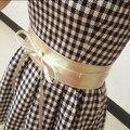 HQ New Fashion Women belt Soft Leather Wide Self Tie Wrap Around Waist Band Dress Belt Free SHipping DYY1494