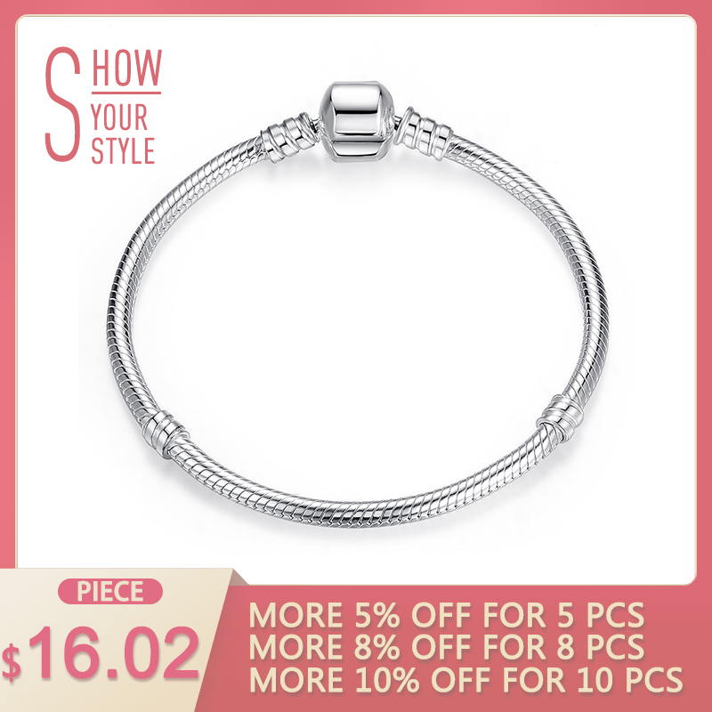 Luksus 100% 925 Sterling Sølv Charm Kjede Passer Original Armbånd Bangle for Women Autentisk Smykker Pulseira Gift XCHS902