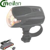 Meilan x5 Xe Đạp Đi Xe Đạp Xe Đạp Đèn Laser LED Không Dây Điều Khiển từ xa & Meilan X1 đèn pin led Ánh Sáng Mặt Trận Trụ đèn