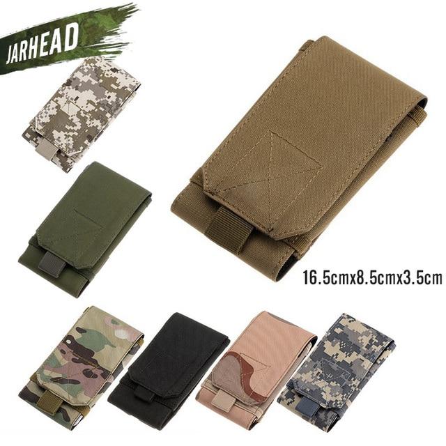 7703ff740ce Outdoor Tactical Sport Grote Mobiele Telefoon Case Tas MOLLE Rugzak Accessoires  Camouflage Zakken (16.5x8