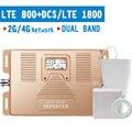 4G LTE 800 LTE 1800 МГц повторитель сигнала мобильного телефона  4G LTE B20 B3 Усилитель сотового сигнала с усилением 70 дБ  4G усилитель ЖК-дисплея