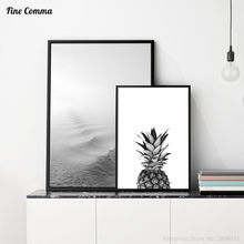 Pineapple Sea Wave Zen Scandinavian Decor Art Decor Posters and Prints Wall Picture for Living Room Wall Art Canvas Print(China)