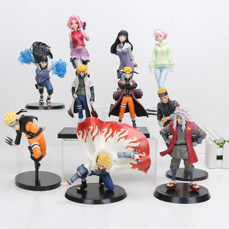 15 cm-22 cm GEM Naruto Hinata Action Figure Hyuuga Hinata Hyuga Sanft Schritt Twin Lions Faust Jiraiya Minato saruka Kampf Modell Spielzeug