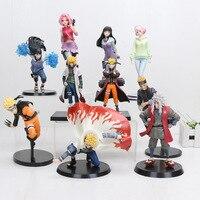 15cm-22cm Naruto Hinata 액션 피규어 Hyuuga Hinata Hyuga 부드럽게 스텝 트윈 라이온스 주먹 Jiraiya Minato Saruka Fight Model Toy
