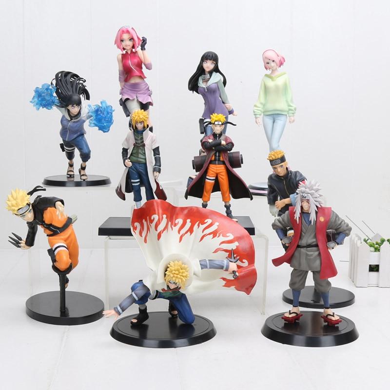 15cm-22cm Naruto Hinata Action Figure Hyuuga Hinata Hyuga Gently Step Twin Lions Fist Jiraiya Minato Saruka Fight Model Toy