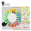 1 PC 2016 Miúdos Bonitos Adesivos De Frutas 3D Dicas de Design de Unhas de Transferência De Água Decalques Adesivos de Unhas para Nail Art Decorações QJ805-816