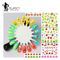 1PC 2016 Cute Kids Stickers 3D Fruit Design Nail Tips Decals Water Transfer Nail Stickers for Nail Art Decorations QJ805-816