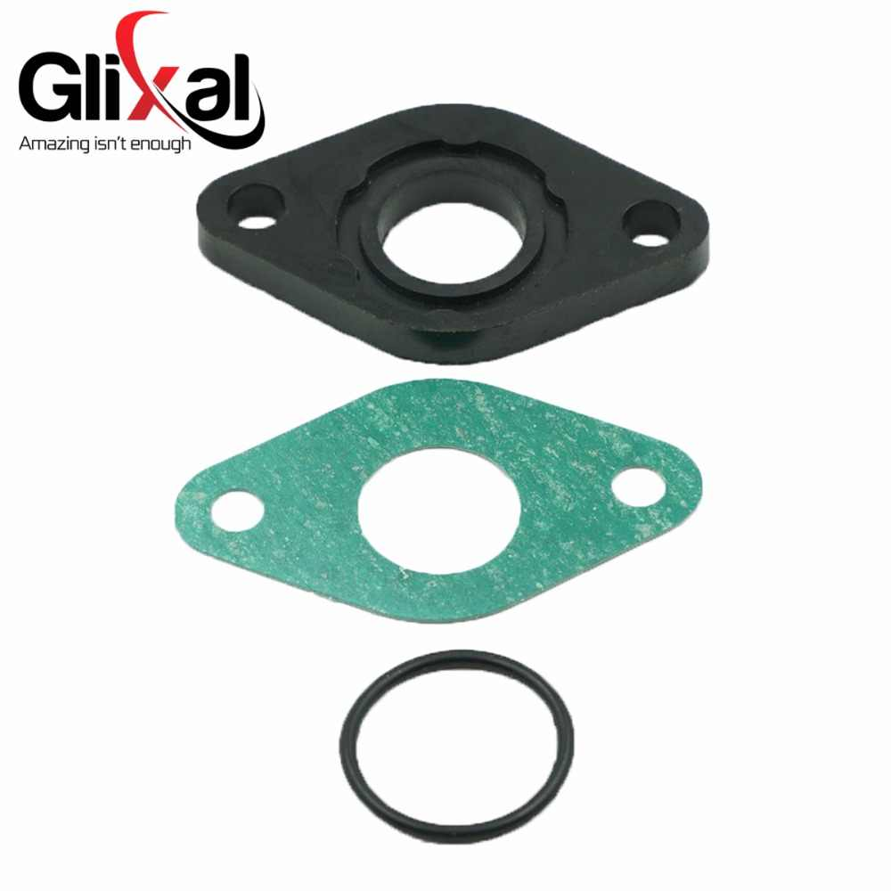 Glixal GY6 49cc 50cc Inlaatspruitstuk Spacer Isolator Scooter Bromfiets ATV Go-Kart Buggy Motor Carburateur Carb 139QMB 139QMA