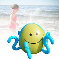 Inflatable Spraying Octopus Summer Children Outdoor Playing Water Game Water Jet Ball Beach Ball Lawn Game Spraying Octopus