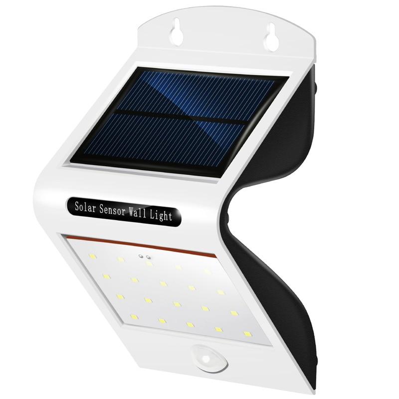Solar Lights Outdoor Motion Sensor Light Wireless Super Bright 20 LED Waterproof Heatproof Exterior Security Wall Lamp Patio D