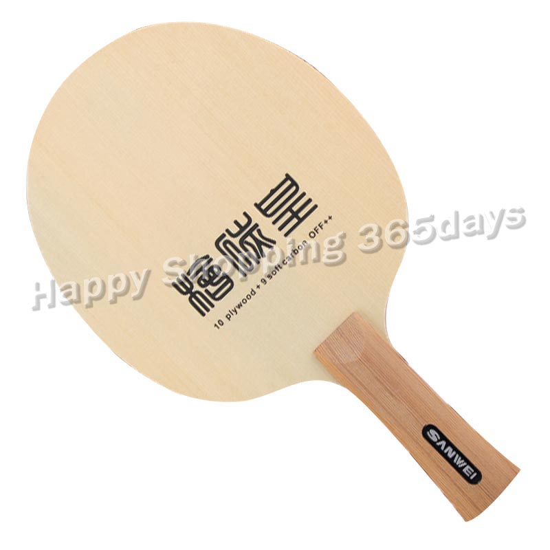 Sanwei T1091AA Hinoki Carbon 10plywood 9 soft catbon OFF table tennis blade