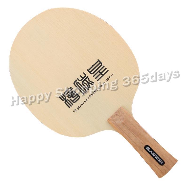 Sanwei T1091AA Hinoki Carbon 10plywood + 9 Soft Catbon OFF++  Table Tennis Blade