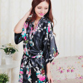 Plus Size S-XXL Bathrobe and Belt Pajama Women Japanese Yukata Kimono Satin Silk Vintage Robe Sexy Lingerie Hot Geisha Sleepwear