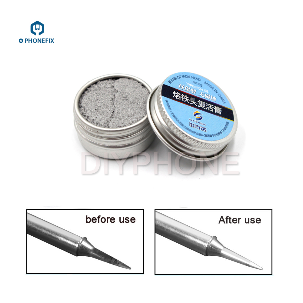 PHONEFIX Electrical Soldering Iron Tip Refresher solder Cream Clean Paste for Oxide Solder Iron Tip Head Resurrection-in Welding Fluxes from Tools