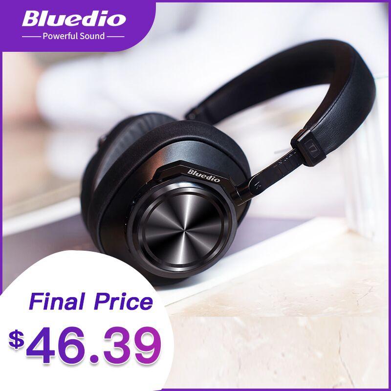 2019 Bluedio T7 casque bluetooth à suppression de bruit défini par l'utilisateur casque sans fil avec microphones pour téléphones iphone xiaomi