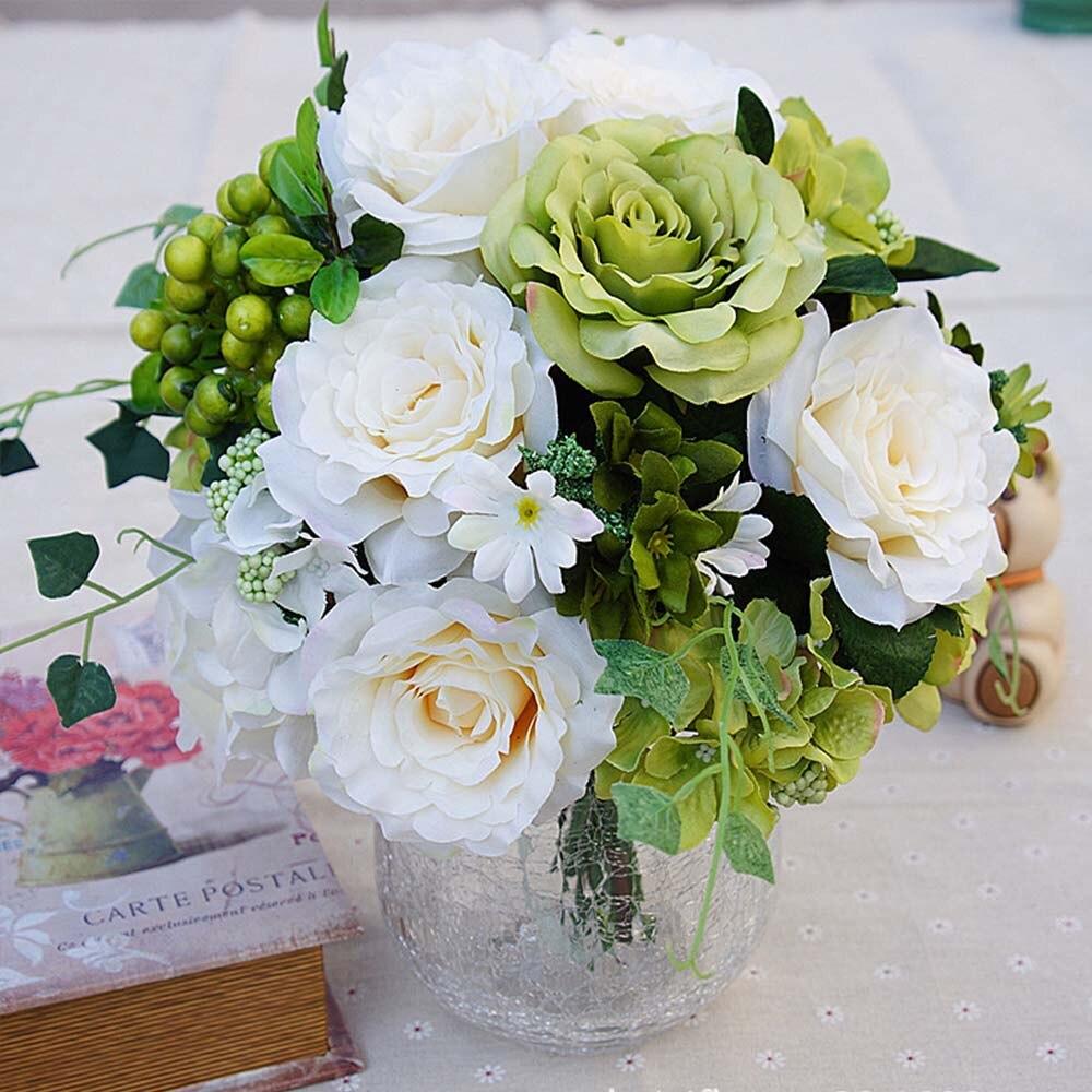 1 paquete flores artificiales decoraciones de Navidad para el hogar