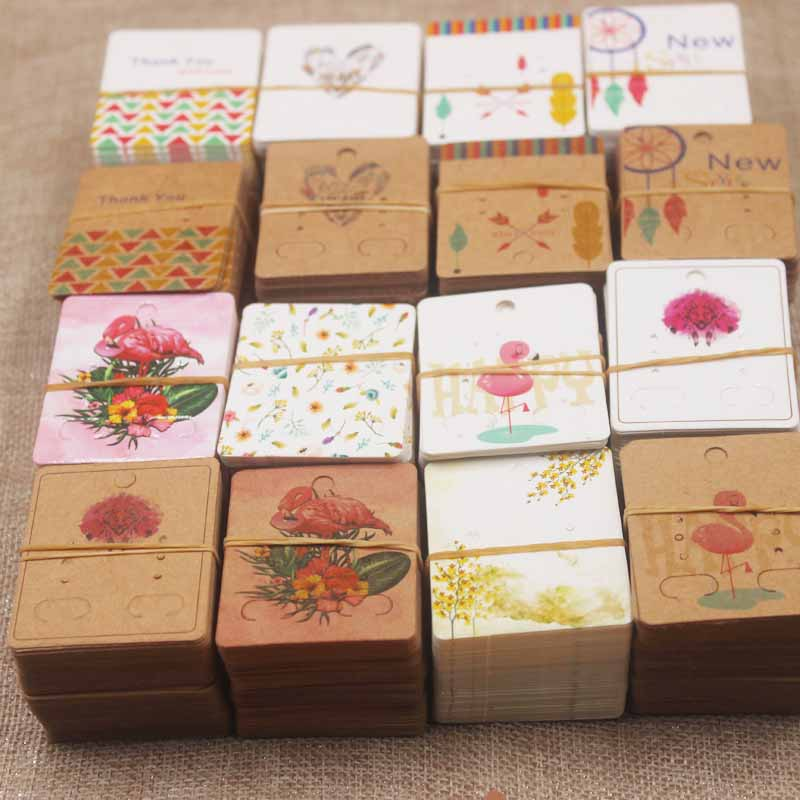 Zerong-new-arrival-50Pcs-Earrings-Package-Ear-Stud-Card5-4cm-Jewelry-Display-Hang-Tag-print-card (2)