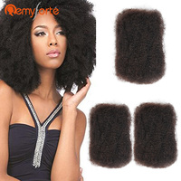 Remy Forte Mongolian Kinky Curly Bulk Human Crochet Braids Hair No Weft 1 PC 50 G/Bundles Bulk Hair For Braiding Natural Color