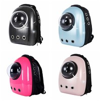 Pet Carriers Travel Bag Dog Cat Transparent Space Window Portable Breathable Double Shoulder Backpack Outdoor Supplies