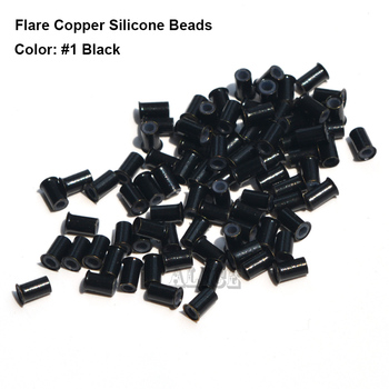 Bengala de silicona Micro enlaces de cobre 3,4*2,0*6,0 MM Microrings de silicona anillos para rastas forrados de silicona Micro perlas