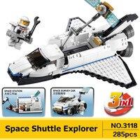 Creator 3 in 1 Uzay Mekiği Explorer DECOOL 3118 Şehir yapı Taşları Setleri Kitleri Tuğla Klasik Modeli Çocuk Oyuncakları Uyumlu Legoe