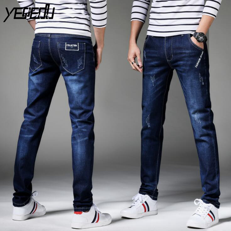 #1482 Fashion jeans Stretch denim Skinny jeans men 2018 Spring Blue jeans masculino High quality Slim fit jeans hombre Straight