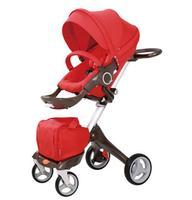 Hot Mom high landscape stroller sit sleeping pneumatic wheels baby stroller trolley pram