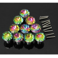 Venda quente 10 Pcs Multicolors Crystal Glass Limpar Gabinete Knob Gaveta Pull Handle Kitchen Door Wardrobe Hardware