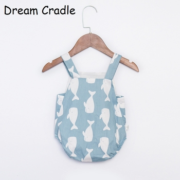 Dream Cradle New Cute Baby Unisex Romper , Baby Boys Summer Romper for Toddler Newborn  Baby Cotton Romper Baby Pinafore 1