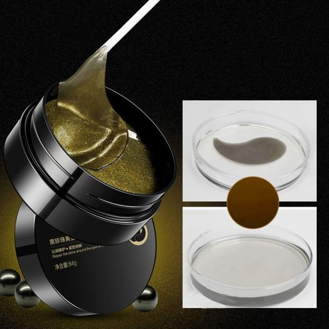 Dark Circle Moisturizing Black Pearl Gel Eye Mask Patches 60 pcs Set