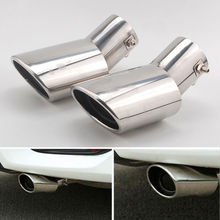 2x Stainless Steel Car Rear Exhaust End Tail Pipe Muffler Tip For Honda Civic 2016-2017