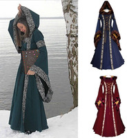 Cosplay Dress Renaissance Medieval Cotton Costume Pirate Boho Peasant Wench Victorian Dress Vestido De Festa