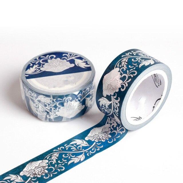 Coloffice M Chinese Style Aesthetics Blue White Porcelain Hand Washi Tape Ideas Diy Lipstick Masking Tape