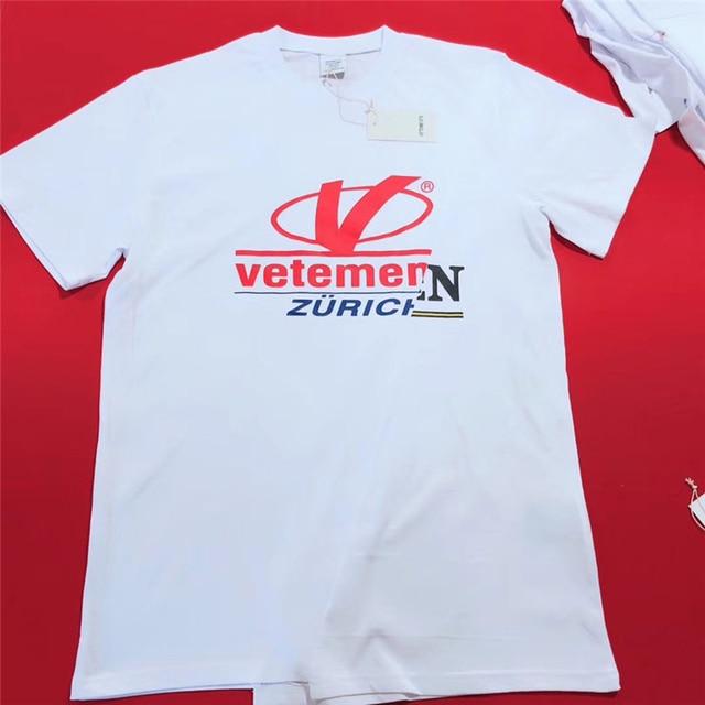Vetements Zurich T Shirt Men Women 1 1 High Quality Patchwork New