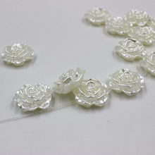 16mm Imitation pearls rose loose beads DIY Beads Bracelet making 20pcs(China)