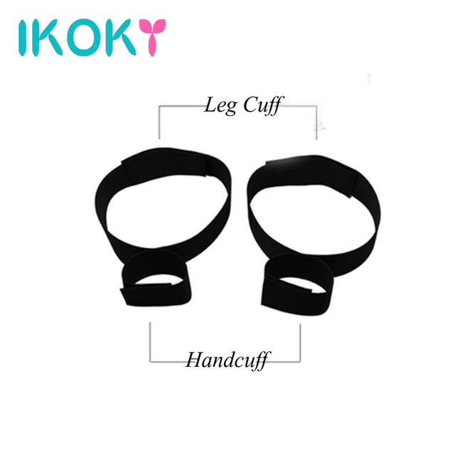 IKOKY Nylon Wrist Ankle Cuffs Handcuffs SM Bondage Role-playing Adult Games Sex Toys for Couple Erotic Toys Chastity