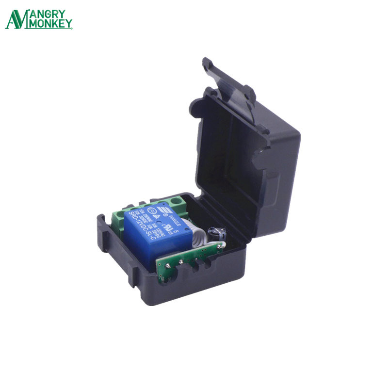 433 Mhz Wireless Remote Control Switch DC 12V 10A 1CH relay 433Mhz Receiver Module For 1527 learning code Transmitter Remote universal 433 mhz 2 channel remote control learning code 1527 relay receiver module wireless diy garage gate door switch dc 12v