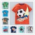 Дети 2016 Девушки Лето Животных Мультфильм Мальчики Майка Топы Tee Детская Одежда Спорт Baby Boy Футболки Одежда
