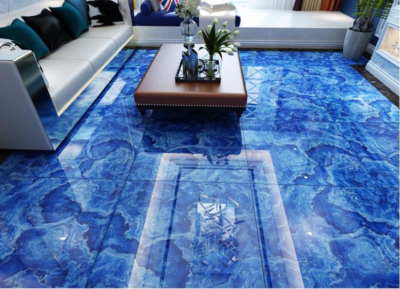 Fine Blue Ocean Polished Glazed Tiles Tile 800x800 Living Room Bedroom Anti Skid Porcelain Floor Building Material On Aliexpress Alibaba