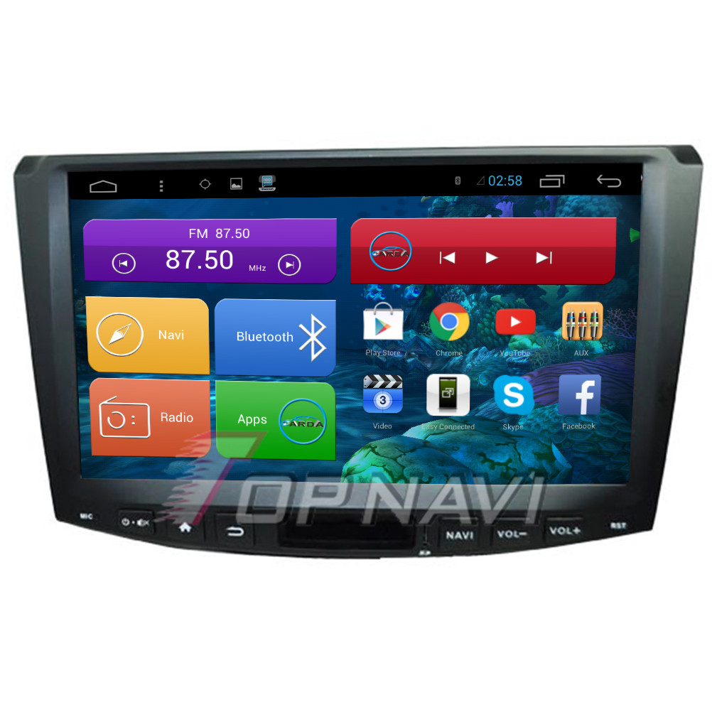 "Top 10.2"" Quad Core Android 4.4 Car Radio for VW Magotan 2013 2014 2015 With Stereo Radio Audio Map 16GB Flash"
