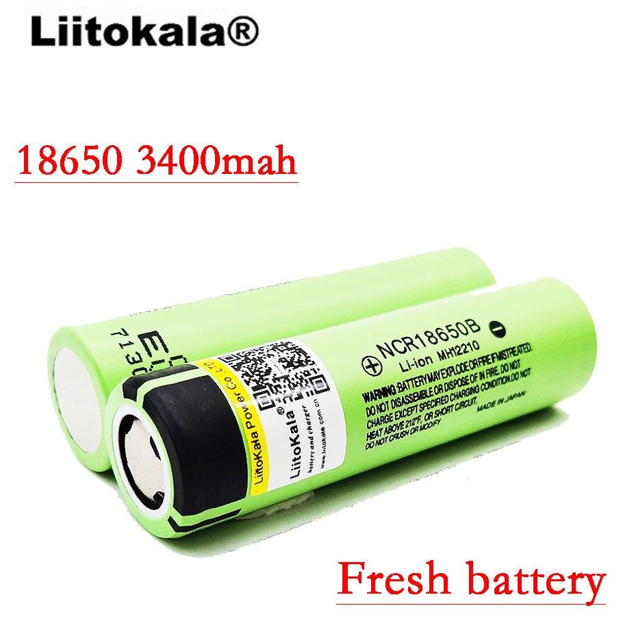 2017 liitokala original NCR18650B 3.7V 3400 mah 18650 3400mah for Panasonic rechargeable lithium battery