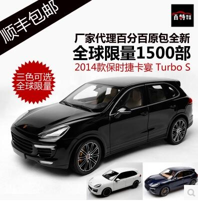 New Cayenne Turbo S 1:18 car model SUV Toy alloy Minichamps collection sports car  Off-road Luxury cars 4S 2014 supercar gift  gifts original 1 18 m ni champs 2015 turbo s alloy car models collection