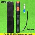 KELUSHI 10 mW Visual Fault Locator Fibra de Plástico Detector Tester FC Adaptador Macho para Fêmea LC Para LC/SC/ST/FC Conector do Cabo